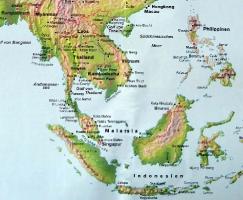 Asienkarte